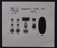 Pocher 1:8 Aufkleber Set Speedometer Bugatti 50T 1933 K76 neu 76-76 B9