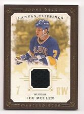 Joe Mullen 08-09 Upper Deck Masterpieces Canvas Clippings Game Used Jersey
