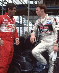1984 Racecar Drivers AL UNSER & AL UNSER JR Glossy 8x10 Photo Indianapolis 500