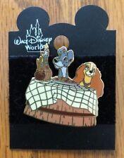 Very Rare Disney Lady and the Tramp Spaghetti Dinner Pin