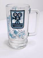 Vintage Universal Studios California Glass Mug Footed Heavy Bottom With Handle