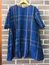 Gorman Size 8 Driveway Dress Navy Cotton Linen