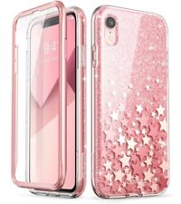 """For iPhone XR 6.1"""", i-Blason Cosmo Glitter Case Cover w/ Screen Protector PINK"""