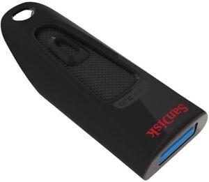 Clé USB 3.0 SanDisk Ultra avec une vitesse de lecture allant jusqu'à 130 Mo/s