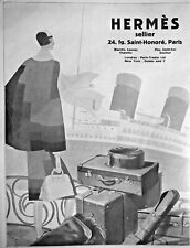AD PRINT Original 1927 HERMES SELLIER Trunk - Briefcase - Saddle - Bags - Kits