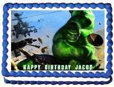 Incredible Hulk Edible Cake topper Party image