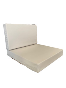COMPLETE CUSHION REPLACEMENT RATTAN CUSHIONS PAD GARDEN PATIO HARD FABRIC