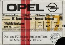Ticket BL 96/97 FC Bayern München - Borussia Dortmund