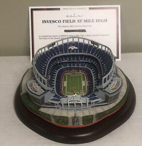 Danbury Mint Invesco Field at Mile High Broncos Replica Stadium w/Original Box