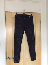 Allsaints Black Coated Petrel Brodie Skinny Jeans Size 29