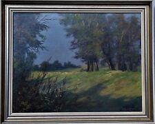 Vecchia immagine dipinto con cornice Estate Foresta firmato H.R. Reder