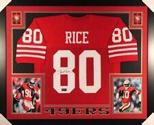 Jerry Rice #8 Signed  San Francisco 49ers 35x43 Custom Framed Jersey  Rice  COA