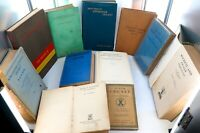 .OUTSTANDING JOB LOT 11 RARE / SCARCE / VINTAGE / ANTIQUE CRICKET BOOKS.