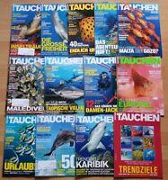 12x Tauchen 2016 Jahrgang Zeitschrift Sport Meere Tiere Urlaub Tauchzeitschrift