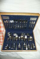 Cutlery VINERS stainless steel 103 pieces in light solid oak box 8 person set