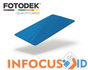 Fotodek® Blank PVC Gloss Coloured Solid Core ID Cards Pacific Blue Pack of 100