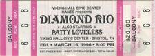 DIAMOND RIO 1996 Unused Concert Ticket PATTY LOVELESS