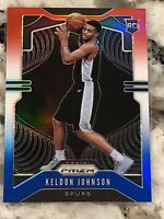 2019-20 Panini Prizm Keldon Johnson Rookie Red White Blue Rookie RC Spurs