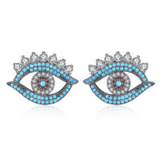 Evil Eye Piercing CZ Stud Earrings Brincos For Women Jewelry