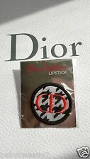 Christian DIOR ADDICT LIPSTICK Pin Brooch Fabrics  C  D Logo