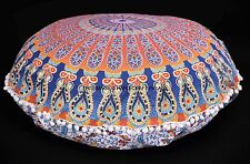 "32"" XL Large Round Floor Pillow Meditation Cushion Indian Mandala Pillow Cover"