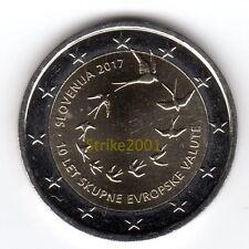 2 EURO COMMEMORATIVO SLOVENIA 2017 10° Anniversario EURO
