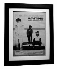 FUN BOY THREE+Waiting+POSTER+AD+ORIGINAL 1983+QUALITY FRAMED+EXPRESS GLOBAL SHIP
