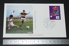 ENVELOPPE 1er JOUR PHILATELIE 1996 FRANCE 98 COUPE MONDE FOOTBALL TOULOUSE TACLE