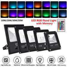 10W 20W 30W LED Security Flood Light Landscape Outdoor Garden Wall Stage Lamp