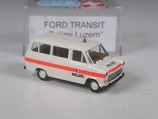 TOP: Brekina Schweiz Sondermodell Ford Transit Polizei Luzern in OVP