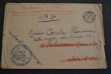 lettre 1917 trésor et poste 14 cachet troupe coloniale F.J.A BAUD