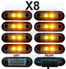 8 x 12V/24V FLUSH FIT AMBER LED SIDE MARKER LAMPS / LIGHTS TRUCK VAN KELSA BAR