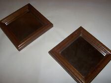 "5"" Square Mirrors picture accents Vintage Home Interiors Set of 2"