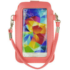 PU Leather cell phone Shoulder Bag Case for Samsung Galaxy S6/s7/LG Nexus 5 Pink