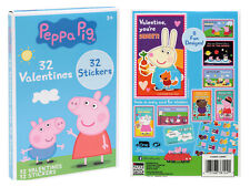 Peppa Pig 32 Count Classroom Exchange Valentine's Day Cards with 32 Stickers