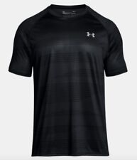 Under Armour * UA Tech Printed T Shirt Black for Men