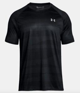 Under Armour * UA Tech Printed T Shirt Black for Men