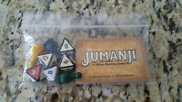 1995 Jumanji Board Game - Replacement Pieces: Pawn Rescue Dice Complete Card Set