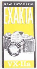 EXAKTA VX-IIA BROCHURE
