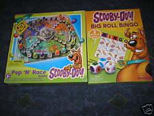 New Set of 2 Scooby Doo Games Bingo & Pop N Race Game