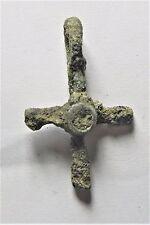 Zurqieh - Af1140- Ancient Byzantine Bronze Cross. 600 A.D - Jordan