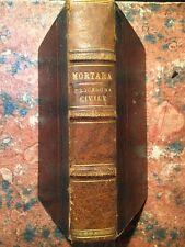 Lodovico Mortara: Manuale della procedura civile, Utet, 1887, GIURISPRUDENZA