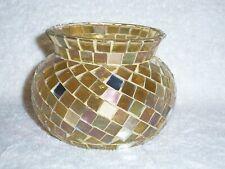 Partylite Gold Mosaic Votive Holder - Nib