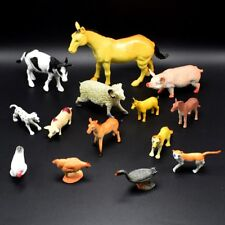 14pcs PVC Farm Animals Horse Pig Model Action Figure Kid Gifts Teaching Toys US