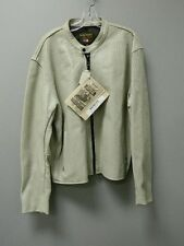 Vanson Leathers Breeze Jacket Grey Perforated Leather Size XXL NWT