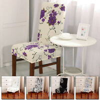 Modern Stretchy Dining Chair Cover Kitchen Anti-dirty Removable Seat Slipcover