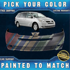 NEW Painted To Match - Front Bumper Cover For 2004 2005 Toyota Sienna Van 04-05
