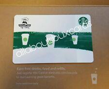 SUPER RARE Starbucks 2017 Co Branded Green Stripe card