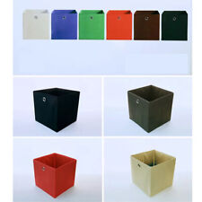 Storage Basket Foldable Box Fabric Canvas Cube Collapsible Organizer Cloth Bag