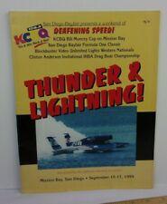 1995 IHBA Drag Boat Racing Championship program Thunderboats San Deigo